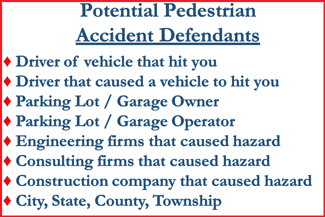 Who to Sue in a Pedestrian Accident