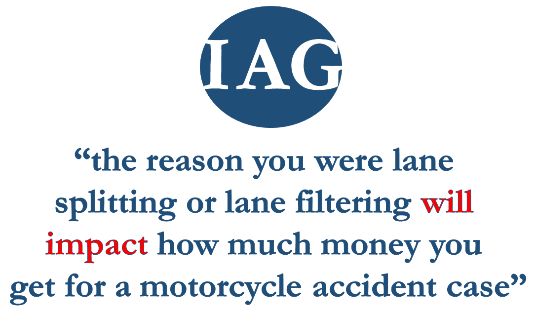 Lane Splitting Impacts Motorcycle Accident Case Value