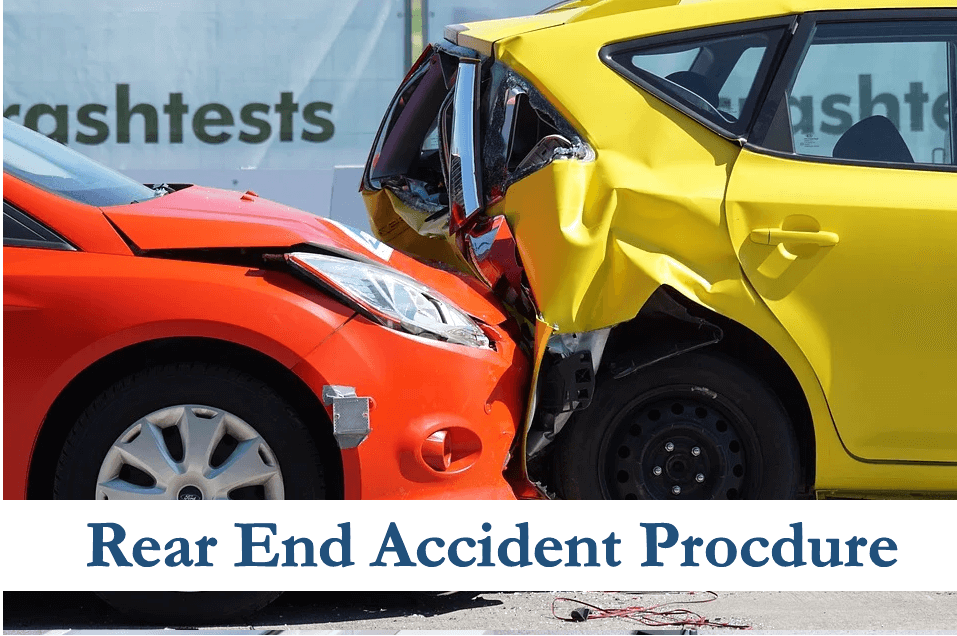 What to Do After Rear End Accidents