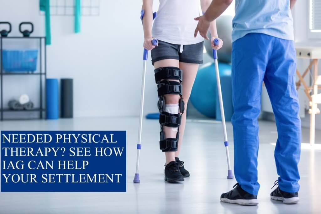 settlement for physical therapy after a car accident
