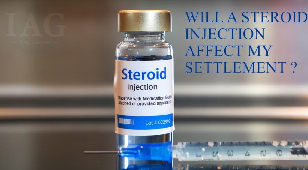Steroid Injections help settlements for herniated disc injury cases